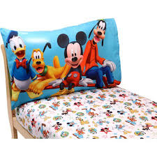 Mickey Mouse Bathroom Decor Walmart by Disney Mickey Mouse Playground Pals 2 Piece Toddler Sheet Set
