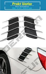 100 Custom Stickers For Trucks Shark Gills Car Styling 3D Vent Air Flow Fender Chrome Alloy Metal