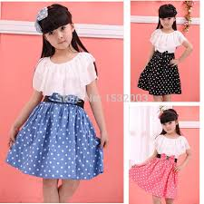 2018 Wholesale Teenage Girls Fashion Dresses Clothes For Teenagers Girl 2015 Lace Princess Summer Vestidos Meninas Dot From Wehot