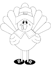 Printable Turkey Coloring Pages Free Thanksgiving Happy