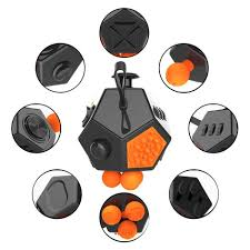 12 Sided Mega Fidget Cube Anti Stress Anxiety Reliever