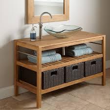 Bathroom Vanity Tower Ideas by Jolon Teak Tower With Rattan Basket Bathroom Bathroom Vanity With