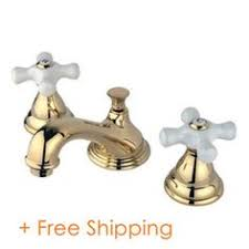 Polished Brass Bathroom Faucets Widespread by French Country Widespread Polished Brass Bathroom Faucet