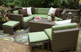 Outdoor Furniture Cushions Sunbrella Fabric by Ae Outdoor Hampton 8 Piece Sectional Sofa Set With Sunbrella