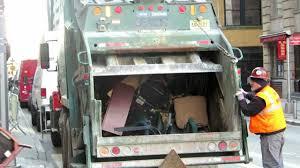 100 Trash Trucks On Youtube REAR LOADING NEW YORK GARBAGE TRUCK TOSSING NICE TRASH