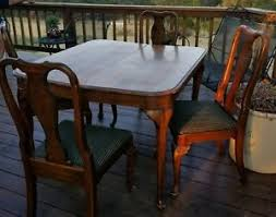vintage ethan allen queen anne dining table and four chairs ebay