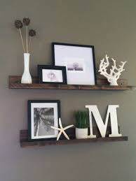 Living Room Long Shelves For Wall Floating Shelf Picture Ledge Rustic Wooden Decorative