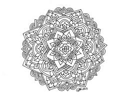 Awesome Collection Of Printable Flower Mandala Coloring Pages Also Job Summary