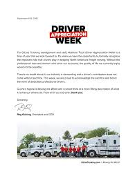 100 National Trucking Truck Driver Appreciation Week QLine