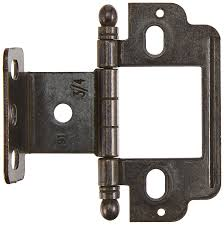 Non Mortise Cabinet Hinges Nickel by Amerock Cabinet Hinge Full Inset Partial Wrap 3 4