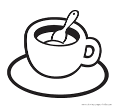 Kids Starbucks Coloring Page Cup Food Pages Colori On Of A