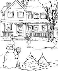 The State House In Snow Day Coloring Pages