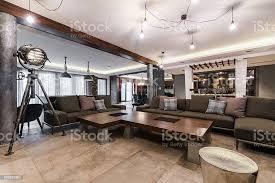 große wohnzimmer in modernen villa haus innenansicht stockfoto und mehr bilder architektur
