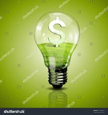electric light bulb currency symbol inside stock illustration