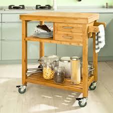 sobuy servierwagen aus bambus küchenwagen küchenregal rollwagen fkw26 n