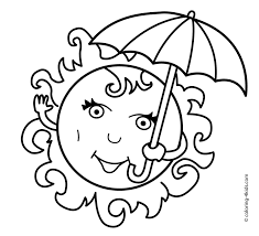 Summer Season Coloring Pages Free Of Clothes