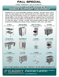 Berner Air Curtain Manual by Caddy Corp Tray Carts U0026 Mobile Support Equipment Fall Special