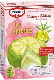 dr oetker typ limette backmischung summer edition torte