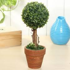 Colorful Artificial Topiary Tree Ball Plants Pot Garden Office Home