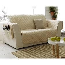 jetés de canapé boutis ou jeté de canapé universel piquage carreaux becquet beige