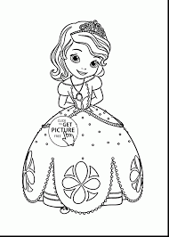 Surprising Disney Princess Sofia Coloring Pages For Girls With Sophia The First And