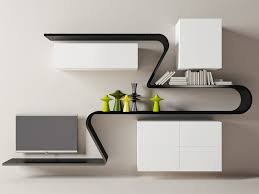 Modern And Unique Wall Shelves Design For Living Rooms Modern Wall
