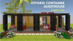 100 Off Grid Shipping Container Homes INBOX 320L ID S1110320L 1 Bed 1 Baths 320SFt
