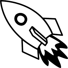 Black And White Rocket Fire Clip Art at Clker vector clip