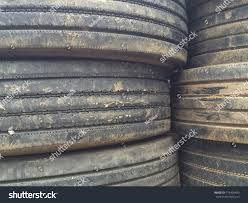 100 Used Truck Tires Old Texturegarbage Stock Photo Edit Now 719409493