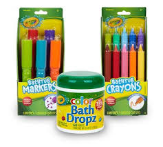 crayola bath accessory set kids bath time fun