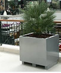 metal garden planters modern aluzinc outdoor cubed planters