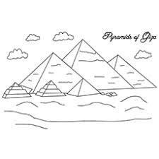 Coloring Page Of Pyramids Giza