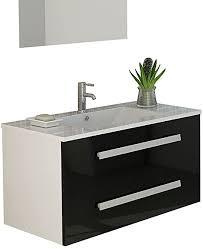 jet line badset badmöbel waschtisch locarno schwarz weiß oder grau hochglanz unterschrank badmöbelset schwarz