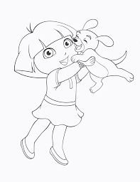 Dora The Explorer And Her Puppy Coloring Pages