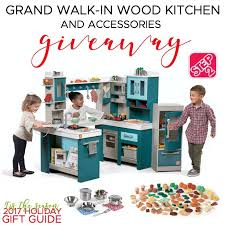 Step2 Kitchens U0026 Play Food by Step2 Grand Walk In Wood Kitchen Accessories Giveaway Rays Of