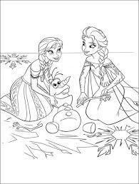 Walt Disney Frozen Printables Coloring Pages