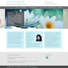 Lotus Homeopathy HealthHosts Web Design For Therapists