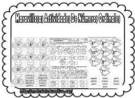 Dibujos De Numeros Ordinales