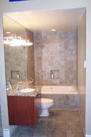 tub shower tile ideas moden white wooden frame glass door