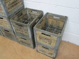 Wooden Milk Crates Antique Best 2000 Decor Ideas
