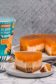 rezept für pfirsich maracuja käsekuchen mit boden veganer