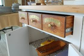 1980s Provence Style Kitchen With Apothecary Drawers
