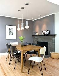 Grey Accent Wall In Dining Room Living With Yellow Red Dark