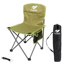 Portable Folding Camping Chair, Lightweight Portable Chair For Hiking  Camping Fishing Beach Picnic Party Gardening, Yellow Green Camping Chair  With A ...