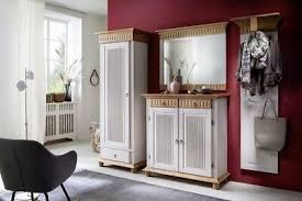garderoben set kiefer massiv weiß antik landhausstil helsinki flurmöbel dielenmö ebay
