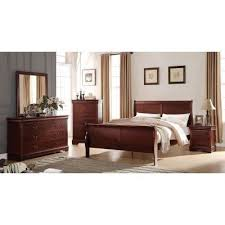 louis philippe youth sleigh bedroom set cherry acme furniture