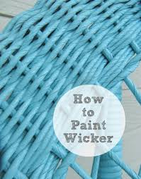 Painting Wicker The Wicker House