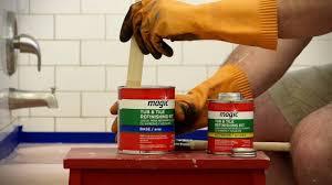 Bathtub Refinishing Kit Homax by How To Refinish Your Tub With The Magic Paint On Tub U0026 Tile Kit