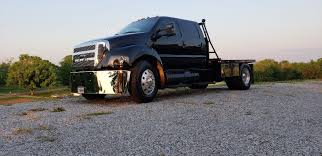 CUSTOM FORD F650 Truck New Black Paint Immaculate Condition Low ...