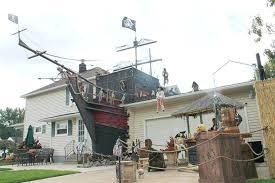 Extraordinary Halloween Lawn Decoration Pirate Ship Decor